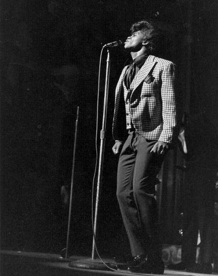 James Brown in performance at the Apollo Theater