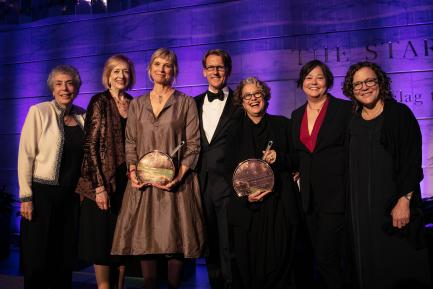 Group photo of award recipients and museum dignataries