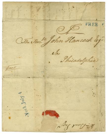 July 4, 1776, John Hancock cover