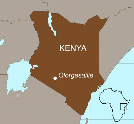 Map showing Kenya