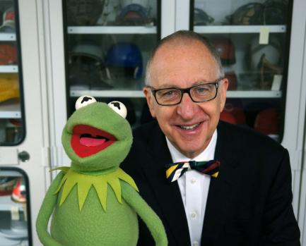 Skorton with Kermit the frog