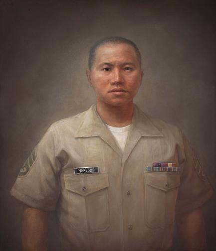Portrait of Hersons in uniform