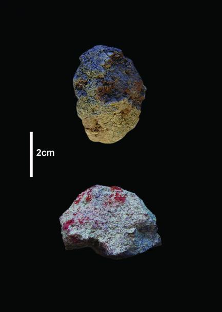 stones with color flecks