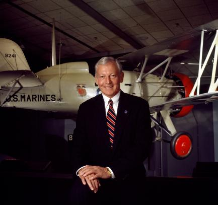 Jack Dailey portrait posed in front of aircraft