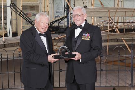 Joseph Sutter and museum director Gen. Jack Dailey