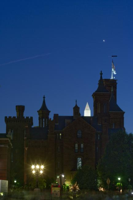 Smithsonian Castle at night
