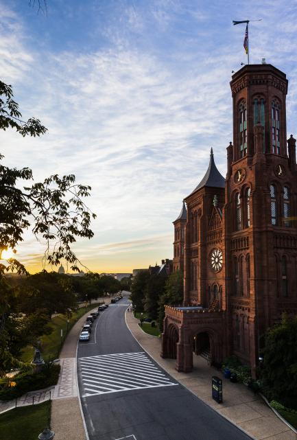 Smithsonian Castle sunrise