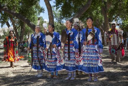 Women in native dress