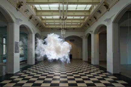 puff of smoke in room