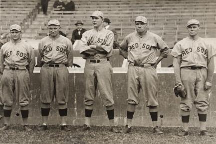 Baseball players on bench