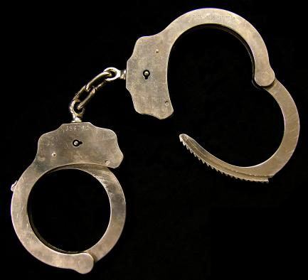Handcuffs used during arrest of Unabomber Theodore J. Kaczynski