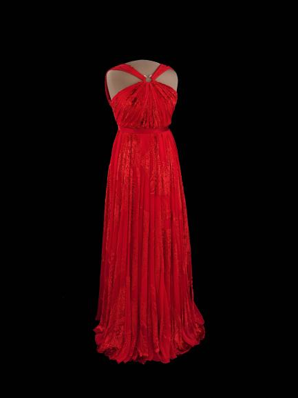 Michelle Obama's red gown.