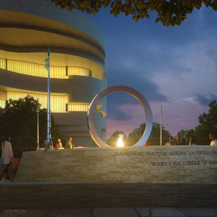 Artists rendering of memorial