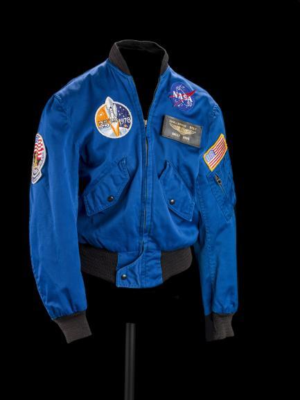 Blue flight jacket