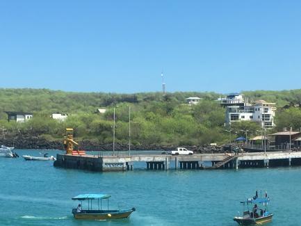 A cargo dock on San Cristóbal Island