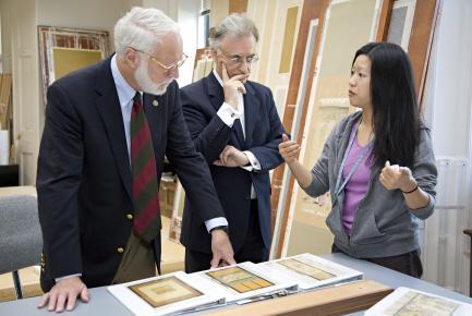 Secretary Clough Visiting Freer and Sackler Galleries