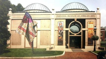 Artists representation of sculpture installed outside African Art Museum
