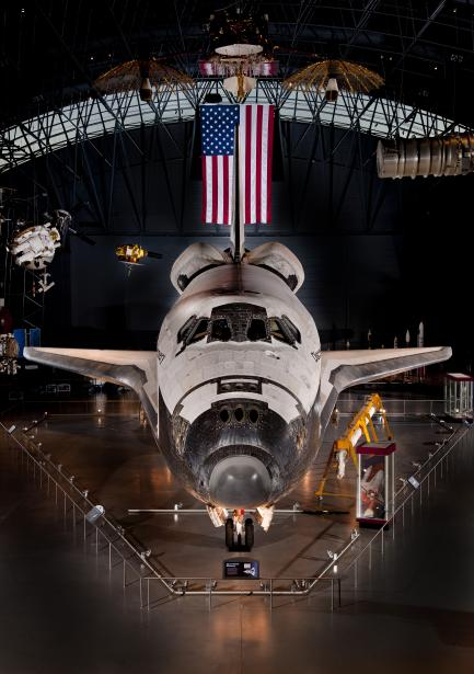 Space Shuttle Discovery in Hangar