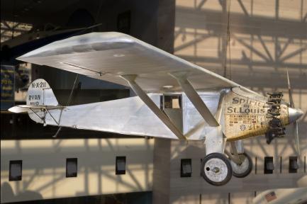 Plane on display in Milestones Hall