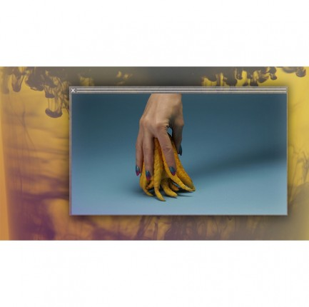 Hand holding banana peel
