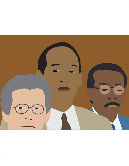 Animation of two black, one white man