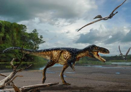 Painting of newly discovered dinosaur