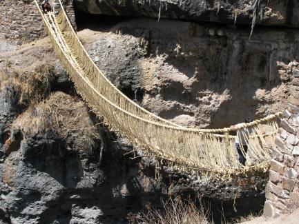 Inka suspension bridge