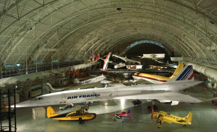 Udvar-Hazy Center Aviation Hangar Interior