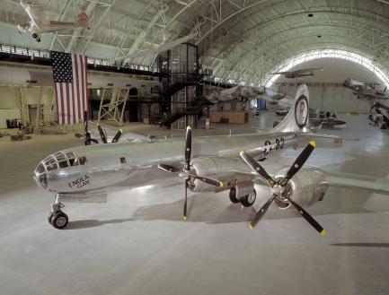 aircraft in exhibition hall