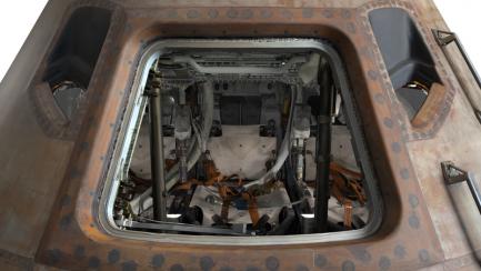 View inside hatch