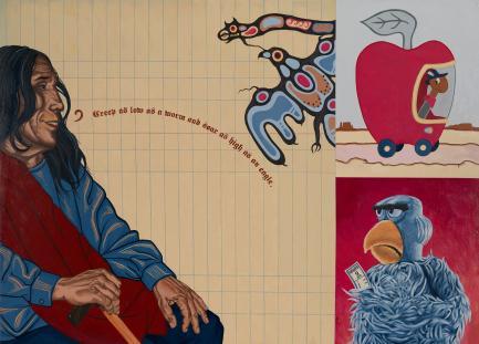"America Meredith (Cherokee Nation of Oklahoma, b. 1972), ""Benediction: John Fire Lame Deer"","