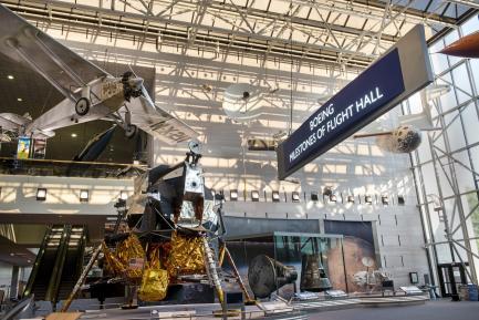 Apollo Lunar Module in Milestones Hall