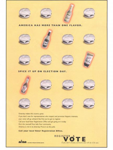 advertisement from 2000 VOTO campaign