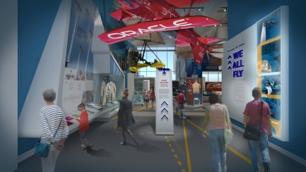 Artist rendering of We All Fly Gallery