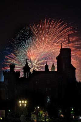Smithsonian Castle and Fireworks