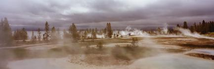 Panoramic photo of park