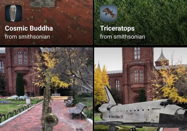 AR objects to use in mobile