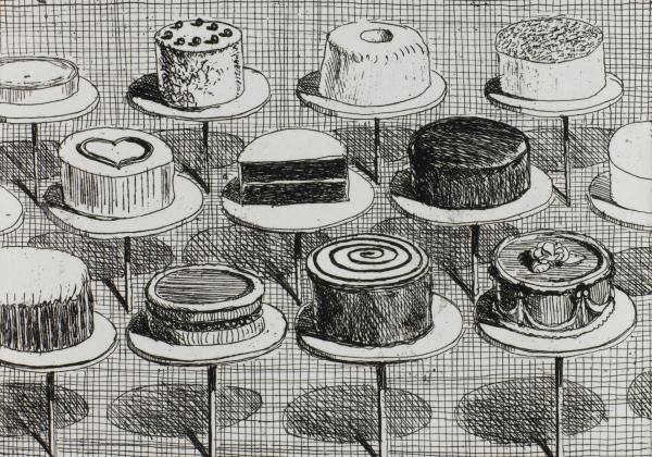 cakes in window