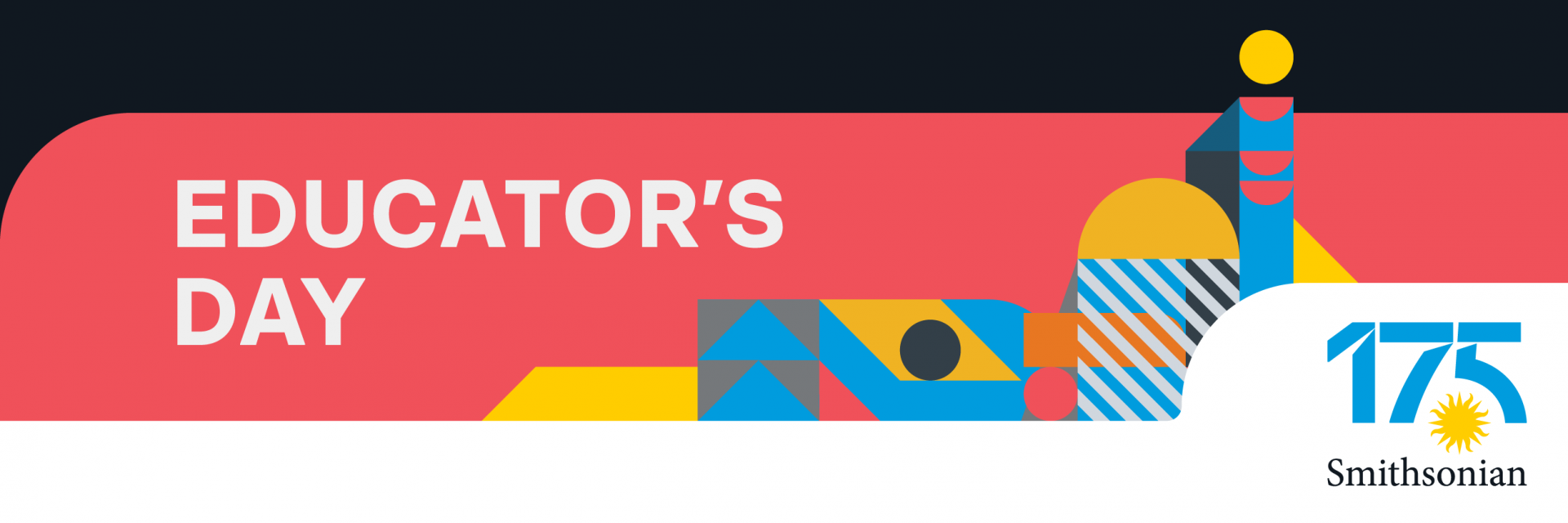 Educators Day graphic with geometric shapes