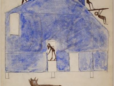 Bill Traylor, House, ca.