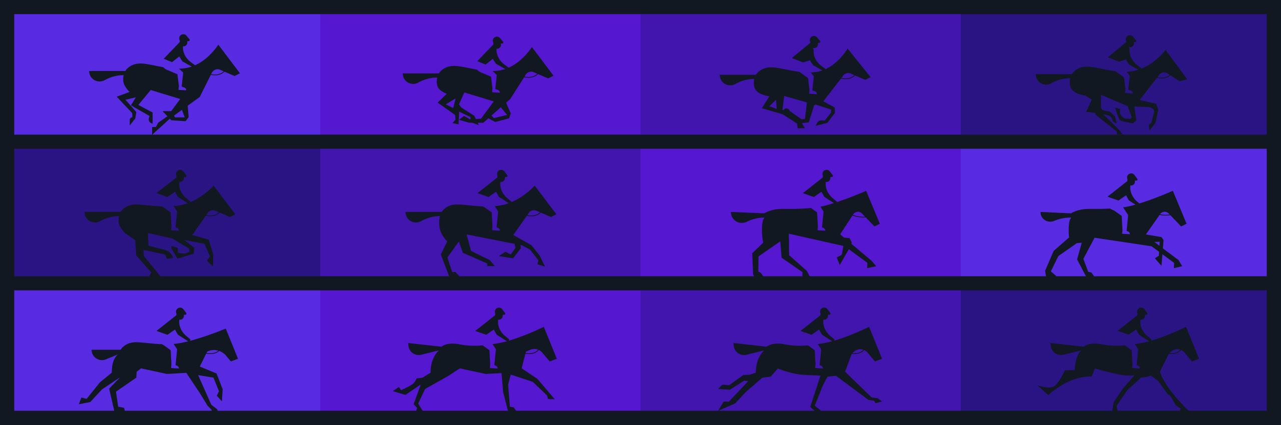 Muybridge horses in motion