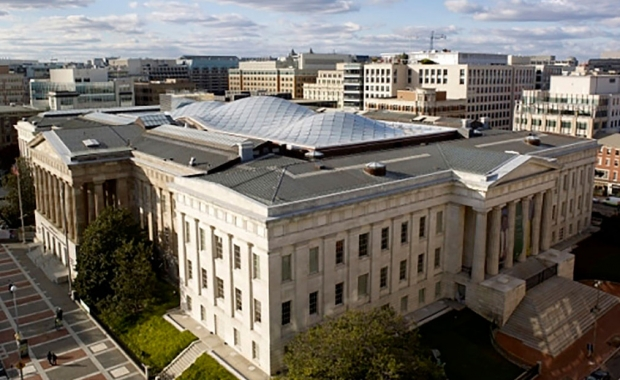 Aerial image of Archives of American Art