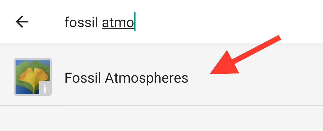 Select Fossil Atmospheres from the results that appear to view our project page.